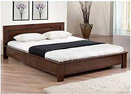 Amazon.com: Low Profile Full Size Bed Frame Wooden Platform Home ...