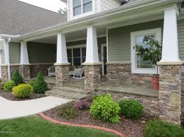 ... Gorgeous Front Porch Design With Various Front Step Ideas : Great Front  Porch Decoration With Light ...