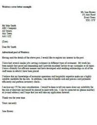 job application letter for hotel waitress waitress application