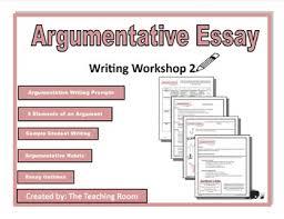 Writing Workshop 2 Argumentative Essay Middle School High School