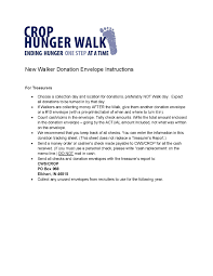 Donation Envelope Donation Envelope Treasurer Crop Hunger Walk Resources