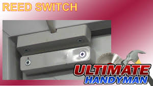 how to install a magnetic door contact reed switch