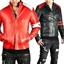 red leather biker jacket mens new stylish genuine color sport bike er zara