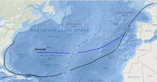 virginia and bermuda Map Of Voyage From England To Jamestown the third supply fleet sailed on a route (blue line) north of the traditional England to Jamestown VA Map