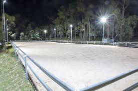 Horse Arena Lights Horse Arena Lit By 150w Led Floods 60x20m Arena 10 Sonaray