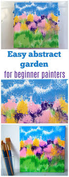 acrylic pouring tutorial an easy abstract garden that even beginner painters can make