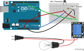 how to set up a 5v relay on the arduino circuit basics Two Wire Thermistor Wiring-Diagram at Thermistor Relay Wiring Diagram