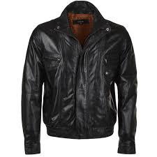 leather er jacket black ani alfred