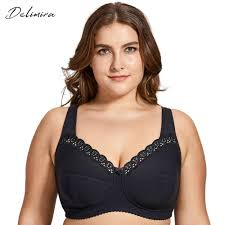 Delimira Bras Size Chart Us 16 99 15 Off Delimira Womens Full Coverage Lace Wireless Non Padded Cotton Bra Plus Size B C D E F H I J In Bras From Underwear Sleepwears On