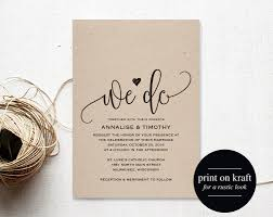 Download Free Wedding Invitation Templates For Word We Do Wedding Invitation Template Rustic Kraft Invitation 4