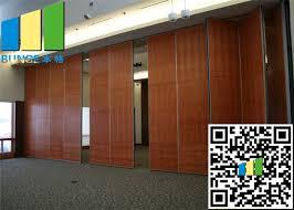 moving baffle sliding folding partition walls aluminium frame panel with door