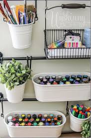 ikea office organization. Perfect Office Store Art Supplies In Hanging Buckets From IKEA For Easy Craft Room  Organization Playroom By Desk And Ikea Office Organization E