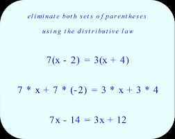 eliminate both sets of paheses using the distributive law