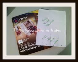 Avery Tri Fold Brochure Templates Shoplet Avery Review This Momma Loves Her Freebies