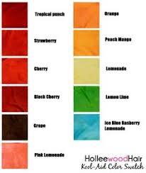 Kool Aid Hair Dye Chart For Dark Hair 21 Best Kool Aid Dye Images In 2019 Kool Aid Dyed Hair