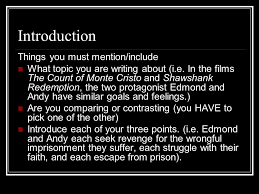 count of monte cristo versus shawshank redemption ecm  3 introduction