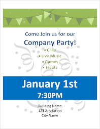 Party Template Party Flyer Template For Word