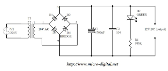 full wave bridge rectifier supply micro digital click to enlarge