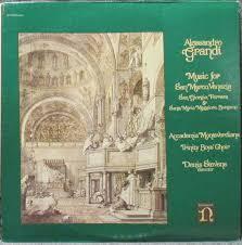 Alessandro Grandi - Accademia Monteverdiana, Trinity Boys' Choir, Denis  Stevens - Music For San Marco, Venezia, San Giorgio, Ferrara & Santa Maria  Maggiore, Bergamo (1976, Vinyl)   Discogs
