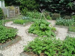 vegetable garden laid out in a pennsylvania german 4 square style