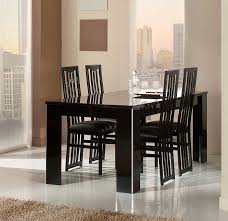 elite modern italian dining table black lacquer dining room