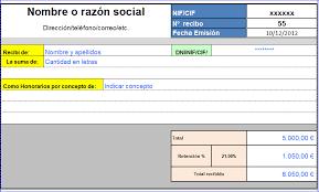 Modelo De Recibo Modelo Recibo Excel Gratis