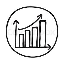 Doodle Growth Chart Icon Infographic Stock Vector Colourbox