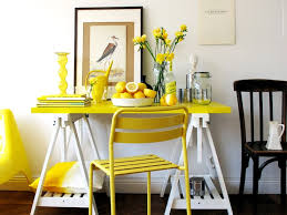 white table top ikea. White And Yellow Bar With Glossy Ikea Vika Amon Table Top, Artur Trestle Shelf Base, Roxo Chair Painted Canary Top E