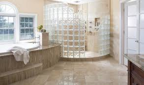 glass block shower provides unique elegant feel