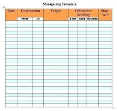 Mileage Report Templates Mileage Log Template Mileage Log Template Excel Spreadsheet Mileage