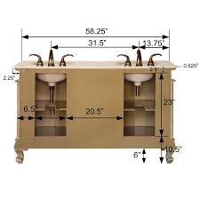 best 58 double sink vanity silkroad exclusive andrea 58 double bathroom vanity set amp reviews