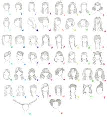 Hairstyle Names For Women 50 female anime hairstyles by anaiskalinin on deviantart 8457 by stevesalt.us