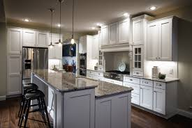 Of White Kitchens With Dark Floors Picture Of White Kitchen Island With Breakfast Bar Design Plus