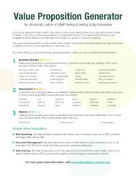 Value Proposition Examples For Resume Twnctry