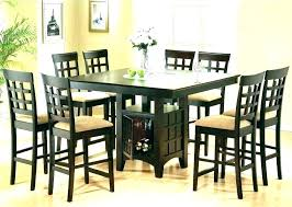 black bar height table high dining room tables bar height set black table and chairs counter
