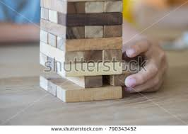 Game Played With Wooden Blocks Closeup Wood Blocks Stack Game Playing Stock Photo 100 47