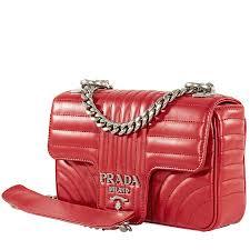 prada diagramme leather shoulder bag red item no 1bd107 coi 2d91 ef0ygf