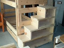 Loft bed stairs plans Part 4 of 4 Building the Ladder Bunk bed and storage  stairs Carl in Stanfield These stairs seem sturdier