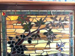 framed stained glass window panels large panel for decorating soldered to zinc frame living antique