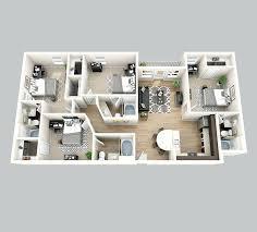 3 bedroom apartments plan. Apartment Plans 4 Bedroom Bathroom Garage 3 Apartments Plan