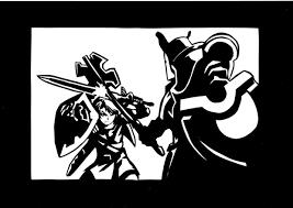 切り絵リンクと鉄仮面 セキガミ さんのイラスト ニコニコ静画