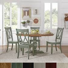 eleanor sage green solid wood oval table and x back chairs 5 piece dining set