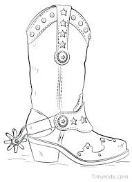 Cowboy Boot Coloring Page At Getdrawingscom Free For Personal Use