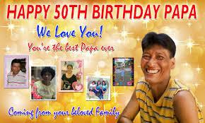 Happy 50th Birthday Tarpaulin Designs Ivy Papa 50th Birthday Gold Cebu Balloons And Party Supplies