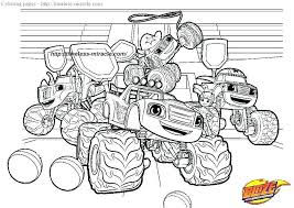 30 Amazing For Blaze And The Monster Machine Coloring Pages Image