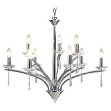 hyperion 3 light pendant in polished chrome