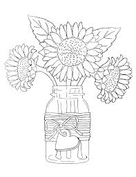 You might also be interested in coloring. Printable Sunflowers In Vase Coloring Page For Both Aldults And Kids