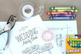 washington dc wedding printable activity book 2