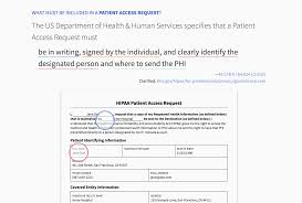 Hipaa Request Form Sharing Our Standard Patient Access Request Patientbank Blog