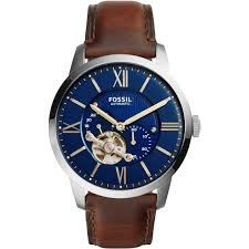 fossil men s townsman automatic brown leather watch me3110